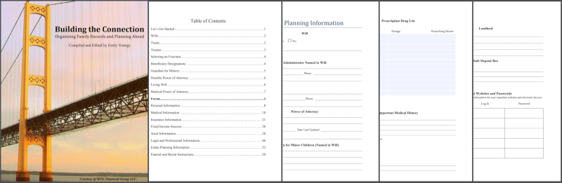 Life Planning Book. HFG Financial Kalamazoo, MI